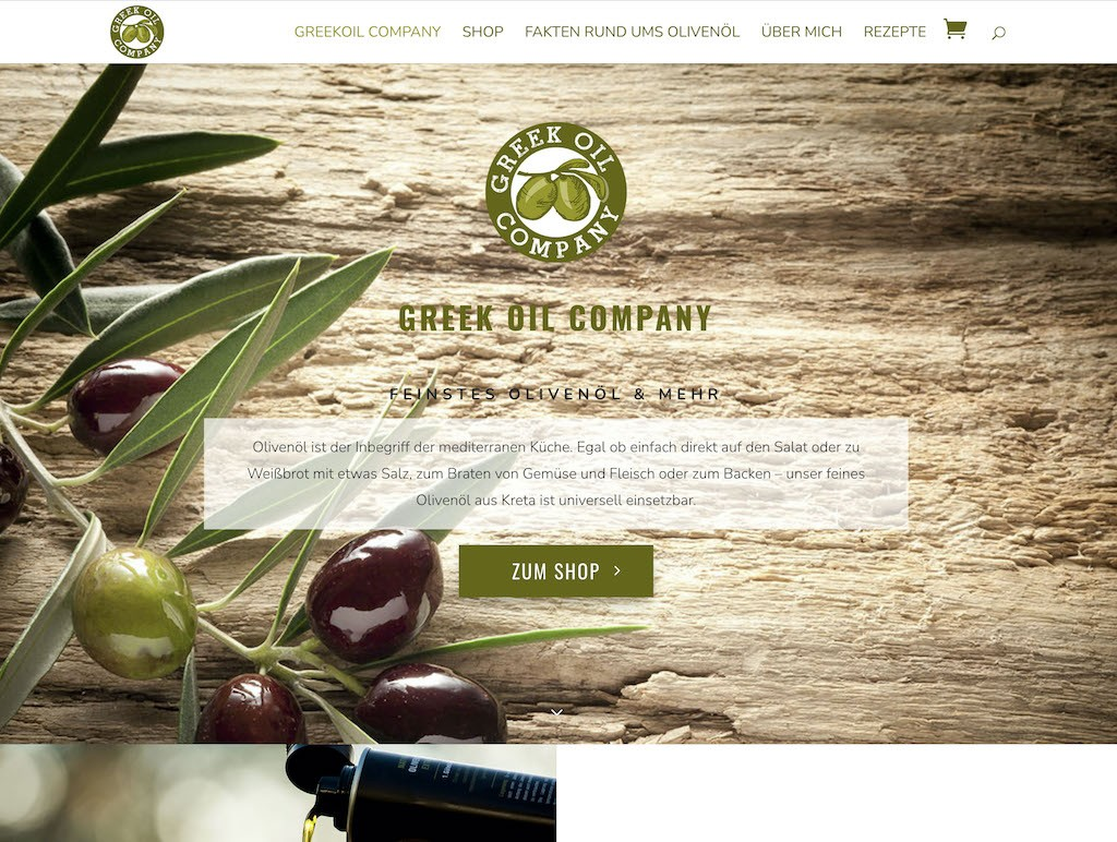 Webseite & Shop Greekoil Company