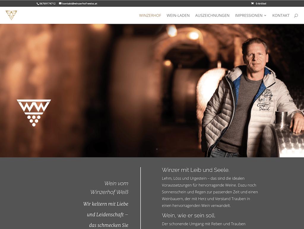 Webseite Winzerhof Weiß